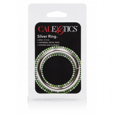 Calexotics Silver Cock Ring Large 5cm