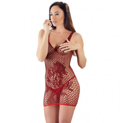 Sensual Red Mini Dress with String