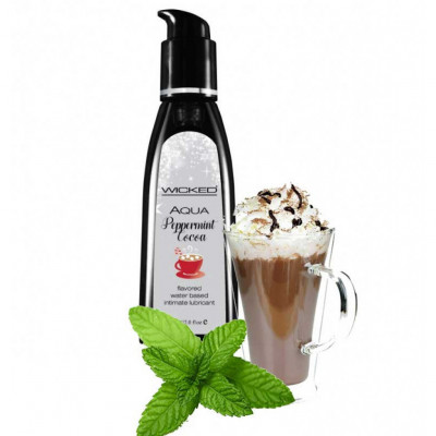 Wicked Aqua Peppermint Cocoa Edible Lube 60ml