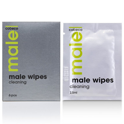 MALE Cobeco Cleaning Wipes (6x2.5ml)