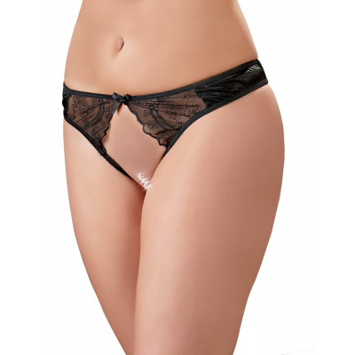 Crotchless Satin-Lace String