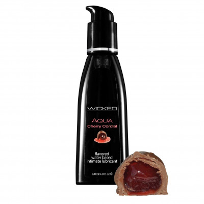 Wicked Aqua Cherry Cordial Edible Lube 120ml