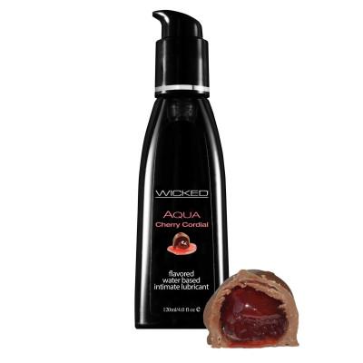 Лубрикант WICKED AQUA Cherry Cordial с ароматом вишневого ликера - 120 мл