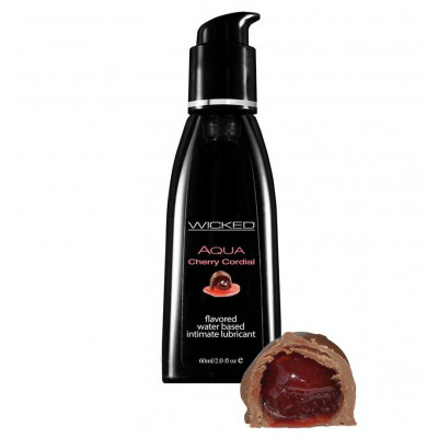 Wicked Aqua Cherry Cordial Edible Lube 60ml