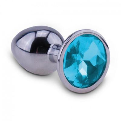 RelaXxxx Silver Starter Alu Butt Plug Blue-Small