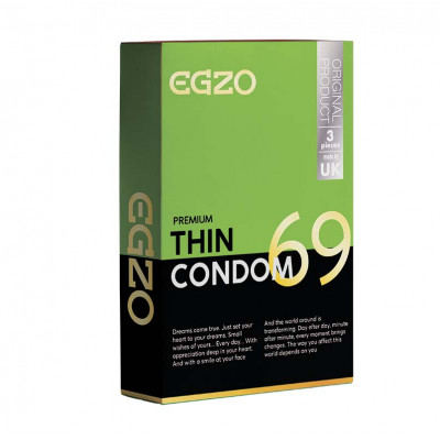 Egzo Premium Thin 3Condoms