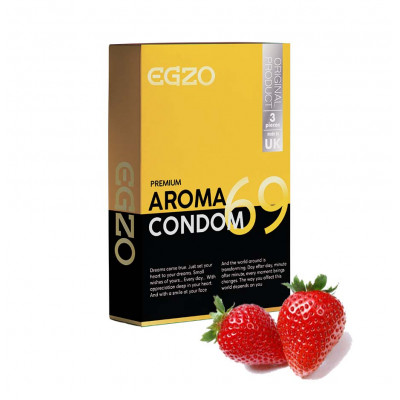 Egzo Strawberry Aroma 3 Condoms