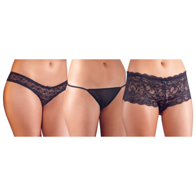 Crotchless Lace Panties Pack of 3