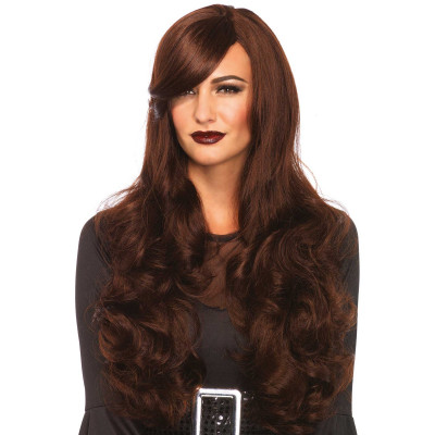 Leg Avenue Long Wavy Wig Brown