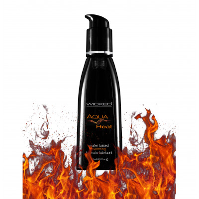 Wicked Aqua Heat Water based Lubricant 120ml