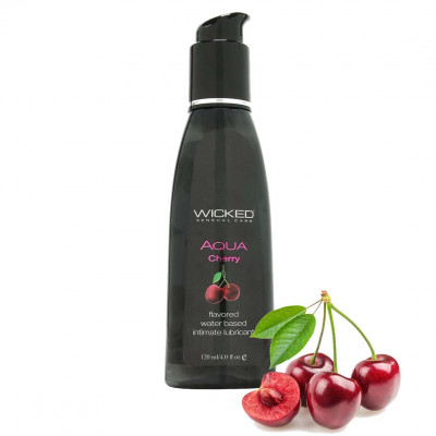 Wicked Aqua Cherry Edible Lube 120ml