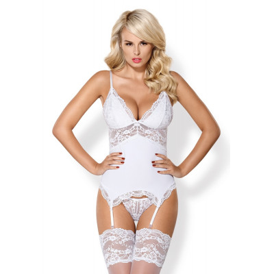 Obsessive Charming White Basque with String