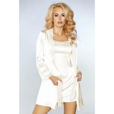 Seductive Jacqueline Negligee Set with Babydoll White