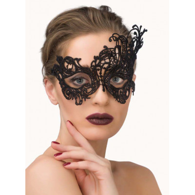 Sensual Lace Eye Mask Black
