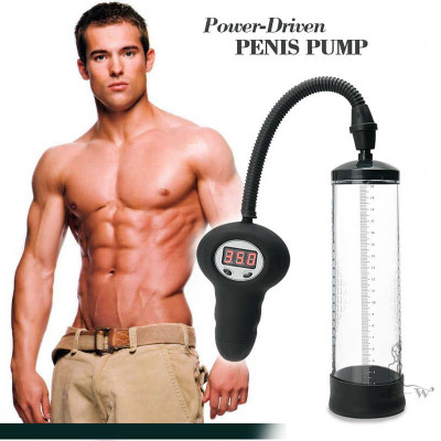 Electric vacuum penis pump pressure control led monitor 22cm