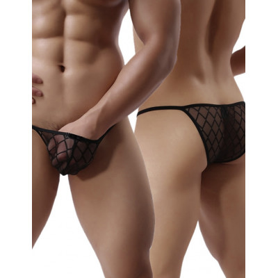 Black Mesh Panty for Him