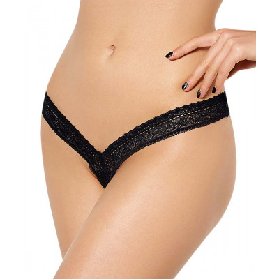 Flirty Tiny Lace Black String