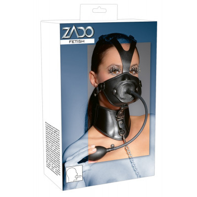 ZADO Leather Head Mask and Gag
