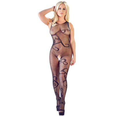 Mandy Mystery Floral Pattern Net Catsuit