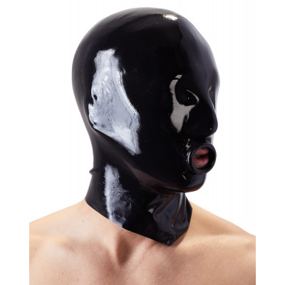 Latex Hood with Mouth Opening