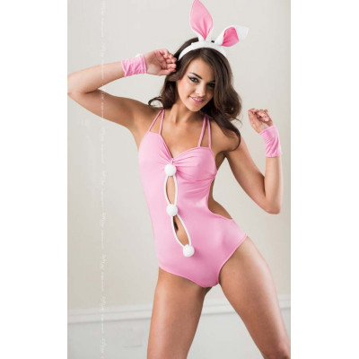 Flirty Pink Rabbit Costume