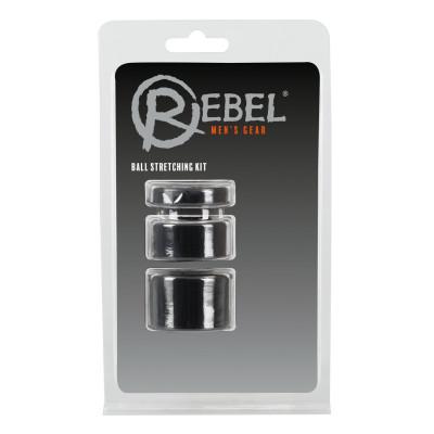 Набор из 3 колец для утяжки мошонки Rebel