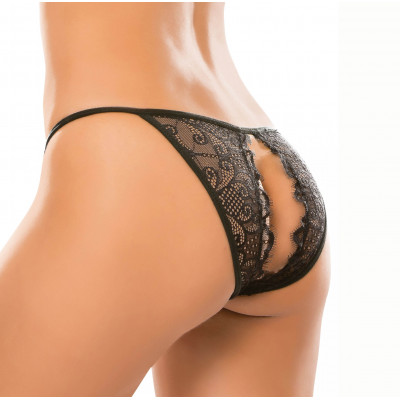 Adore Lace Enchanted Belle Panty Black