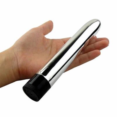 Вибратор из пластика серебристый 17 cm