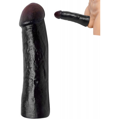 Mega Black Penis Enlarging Sleeve 22cm