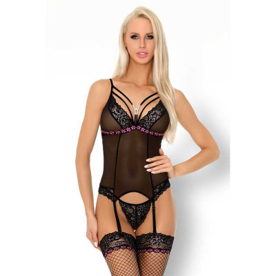 Roxelani Mesh Basque with String