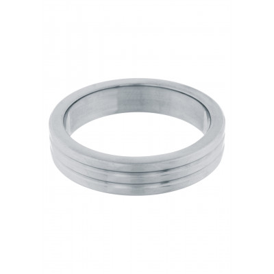 Cockring Stainless Steel Ribbed 40 mm