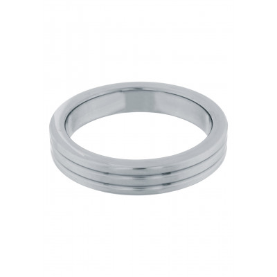 Cockring Stainless Steel Ribbed 45 mm