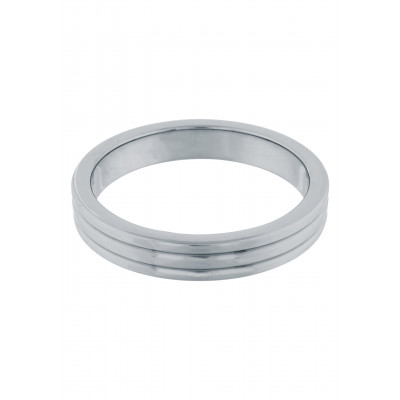 Cockring Stainless Steel Ribbed 50 mm