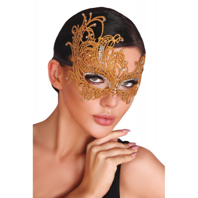Gold Eye Mask with Rhinestones