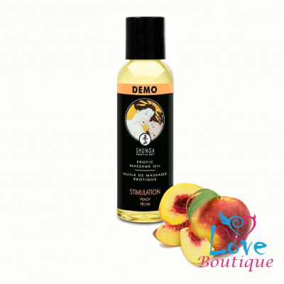 Shunga Massage Oil Stimulation Peach 60ml