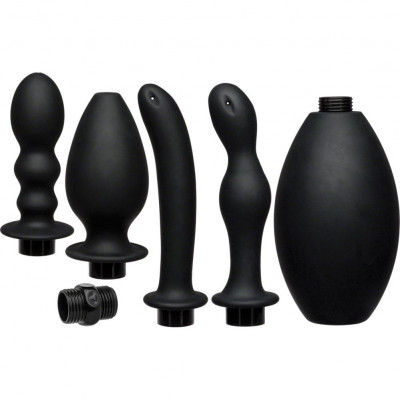 Flow Full Flush Silicone Anal Douche Set
