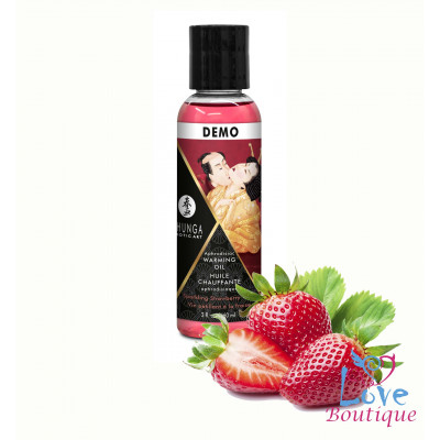 Shunga Intimate Kisses Aphrodisiac Oil Strawberry Wine 60ml