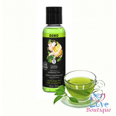 Shunga Intimate Kisses Aphrodisiac Oil Green Tea 60ml