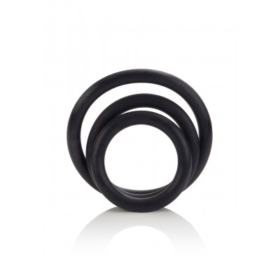 Calexotics Black Rubber set three Cock Rings