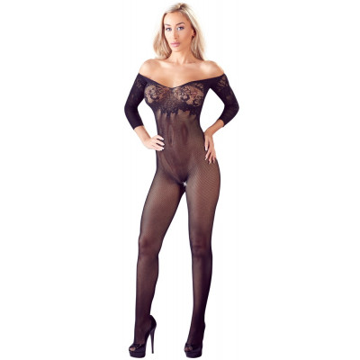 Off the Shoulder Coarse Net Catsuit