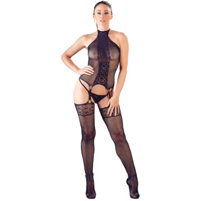 Mandy Mystery Net-Lace Basque Set