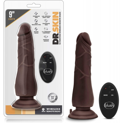 Dr Skin 9 inch Wireless Remote Dildo Vibrator 21 cm