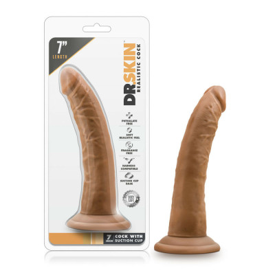 Dr Skin 7 inch Cock Suction cup Mocha