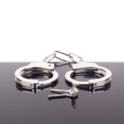 Heavy duty steel police handcuffs 350gr