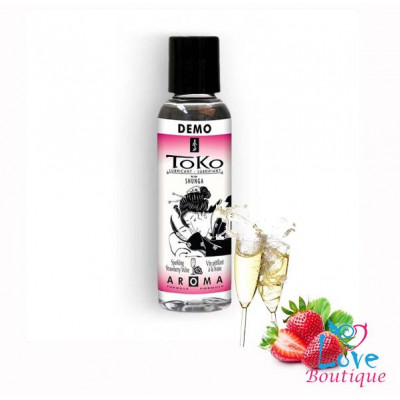 Shunga Toko Sparkling Strawberry Wine Flavored Lubricant 60ml