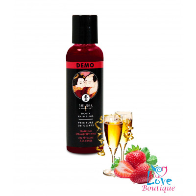 Shunga Sparkling Strawberry Wine Body Paint 60ml