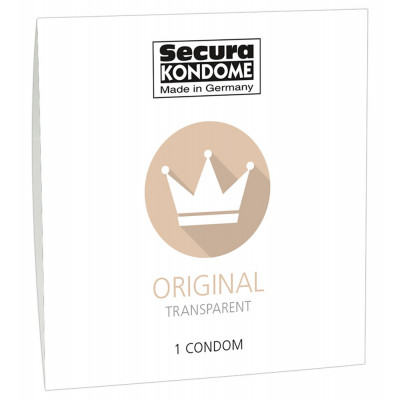 Secura Original transparent 1 condom pack