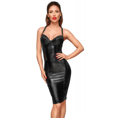 Noir Power Wetlook Dress