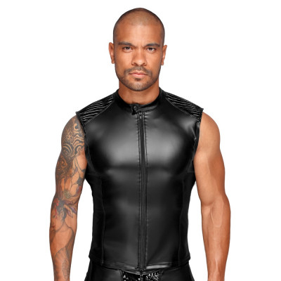 Mens Wetlook Shirt With Zip