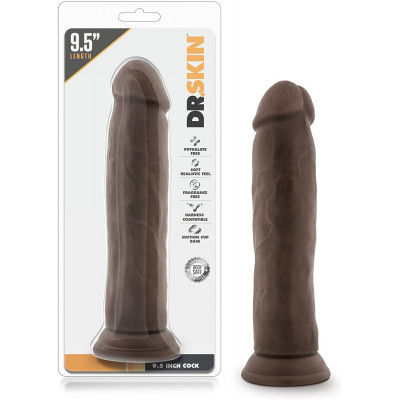 Dr Skin 9.5 Inch Cock Chocolate